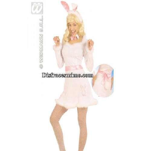 Tu mejor disfraz de conejita adulto para mujer.Con este disfraz con su vestido blanco y su dibujo de conejo de play boy es divertido y gracioso trajes es perfecto para sorprender en tus Fiestas de Disfraces o Carnaval, e incluso para disfrazar a la novia en su Despedida de Soltera.
