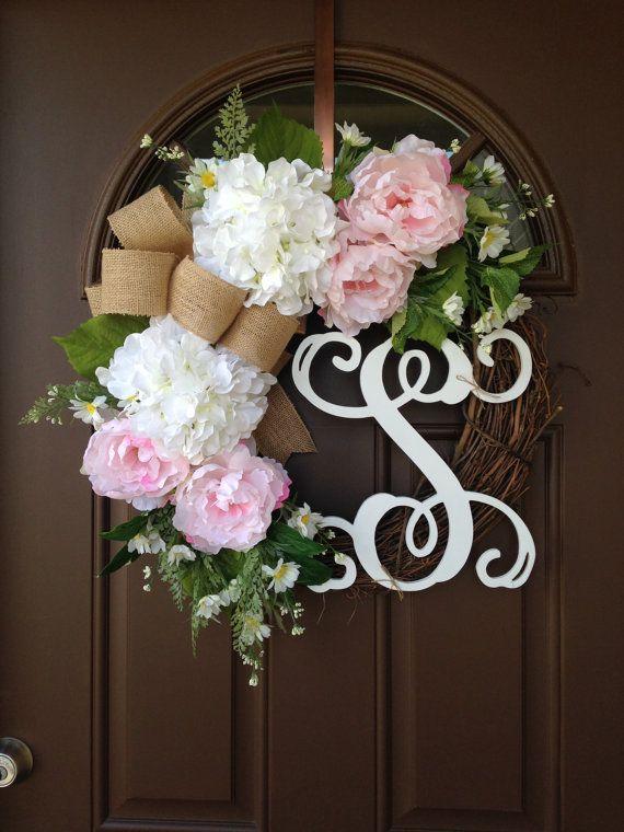 initial wreaths for front doorThe 25 best Initial door wreaths ideas on Pinterest  Letter door