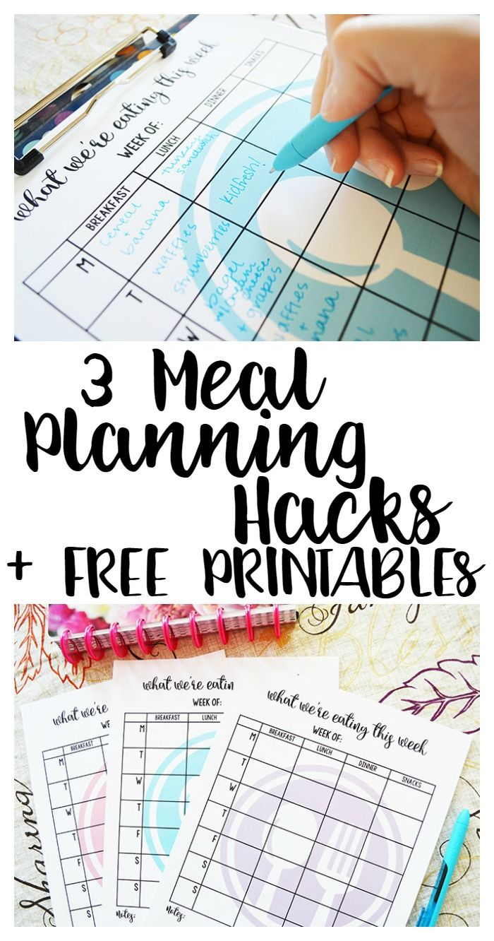 3 Meal Planning Hacks + FREE Printables to make meal time a breeze. #ad #KidfreshToTheRescue