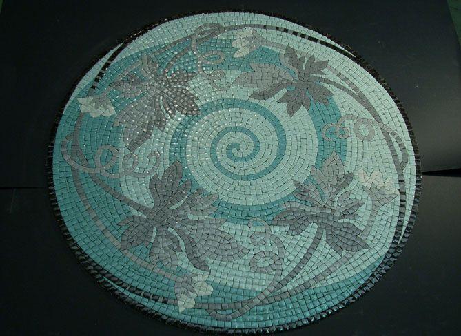 Mosaico indoor / a pavimento / in vetro / lucido - A E L CROCI