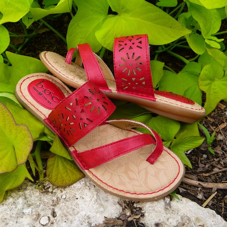 #styletip pair these red hot #BOC #sandals with your favorite #maxidress or #skirt! #famousfootwear