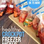 Eight healthy freezer crockpot meals in 75 minutes- After delivery plan!