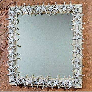 "155.00-25"" x 23"" White Faux Starfish Mirror"