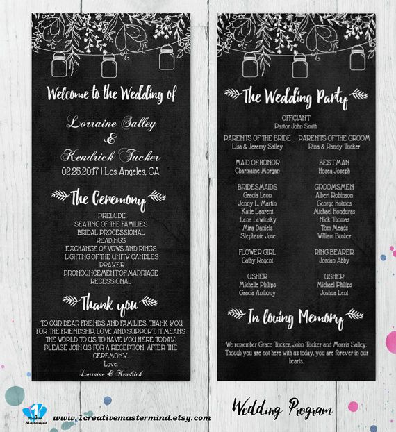 Best Diy Wedding Program Templates Images On   Wedding