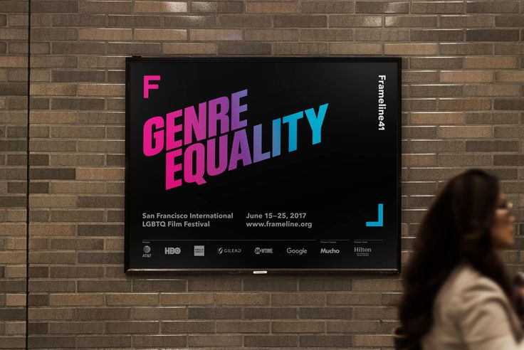Visual identity and poster by Mucho for San Francisco based LGBT film festival Frameline 41.