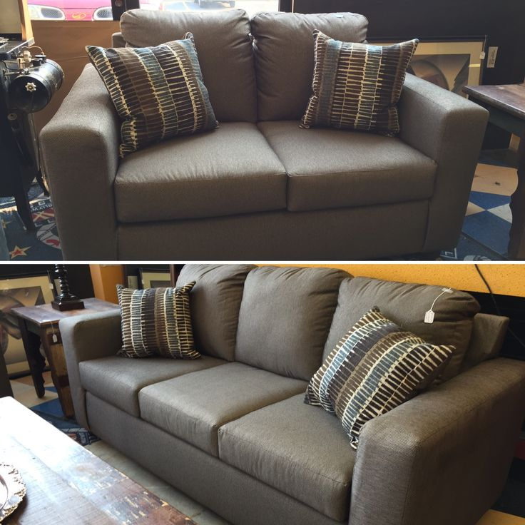 Brand New Comfortable And Stylish Gray Loveseat, Sofa, And Accent Pillows  For Any Living