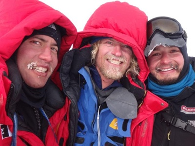 Cas & Jonesy 2200kms, 90 days & Norway's Aleksandr Gamme crossing Antarctic Ice. Freaking awesome! #SAConf