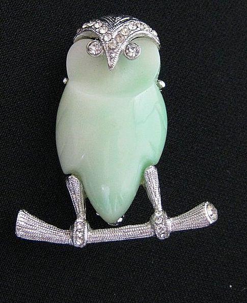 Vintage Signed Hattie Carnegie Owl Brooch