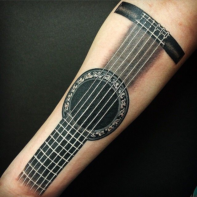guitar tattoo someone might like                              …