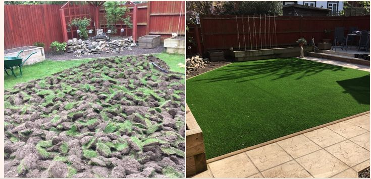Small garden artificial grass transformation