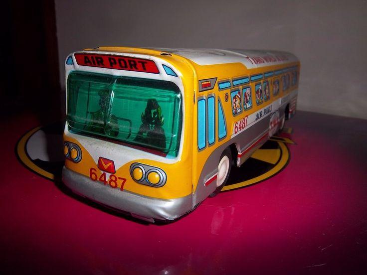 VINTAGE TAIYO WORLD TWA TRANS WORLD AIRLINES TIN LITHO BUS JAPAN COLLECTIBLE