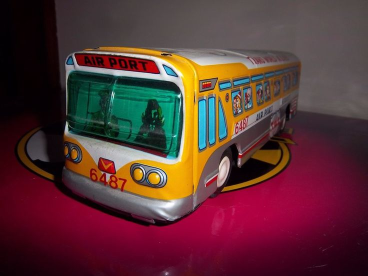 VINTAGE TAIYO WORLD TWA TRANS WORLD AIRLINES TIN LITHO BUS JAPAN COLLECTIBLE