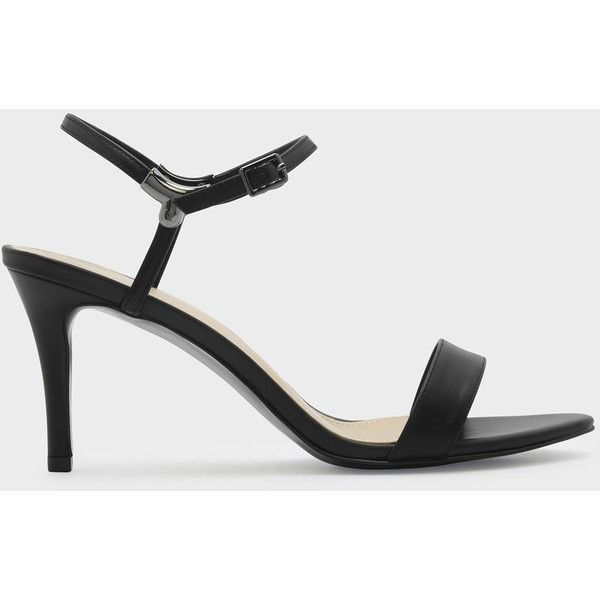Charles & Keith OPEN TOE LOW HEEL SANDALS ($49) ❤ liked on