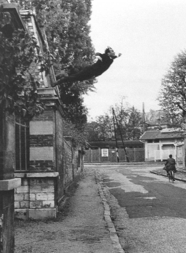 """Yves Klein, """"Leap into the Void,"""" 1960. One of my all time favorite photographs."""