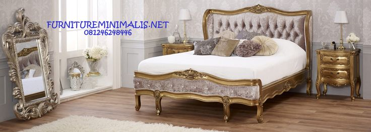 Harga Kamar Tidur Shabby Chic Gold Prancis Terbaru Mewah Eropa