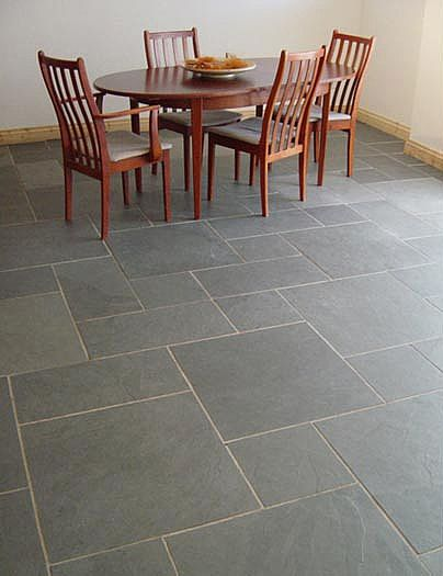 blue slate floors | Blue Grey Riven Random Pattern Brazillian Slate Flooring