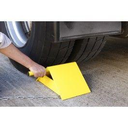 Cale de roue jumbo jaune pour toutes roue de camion