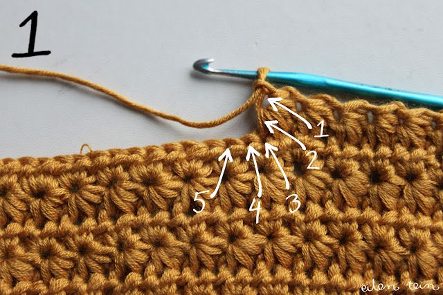 star stitch... this is how all crochet lessons should be... I need a real visual