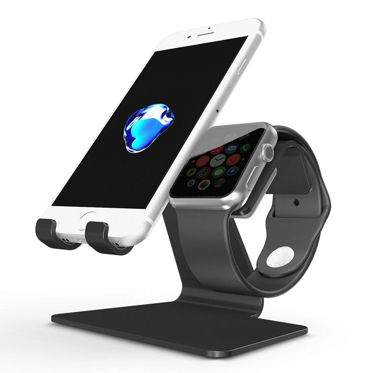 Amazon.com: Apple Watch Stand, OMOTON 2 in 1 Universal Desktop Cell Phone Stand and Apple Watch Stand, Advanced 4mm Thickness Aluminum Stand Holder for iPhone and Apple Watch (Both 38mm & 42mm): Cell Phones & Accessories