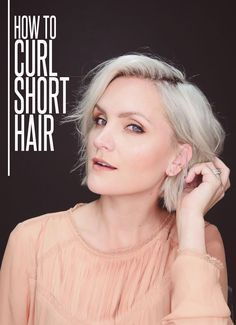 A easy way to curl short hair with a flat iron