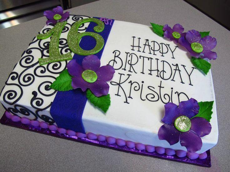 Susse 16 Emma Sweet 16 Party Ideas Sheet Cake Designs Purple