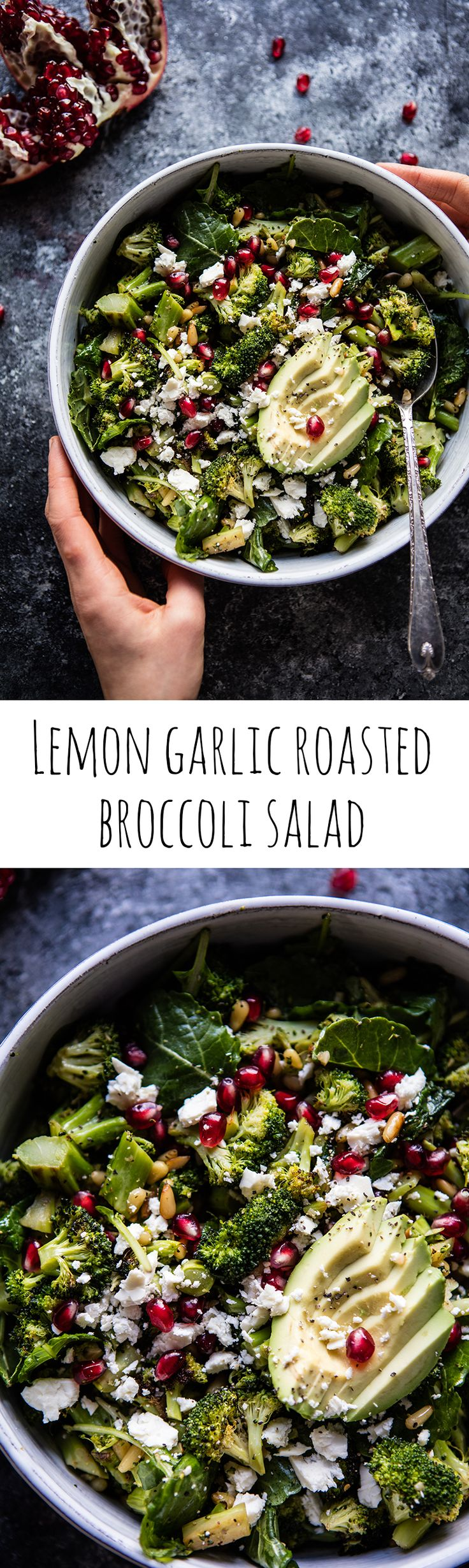Lemon Garlic Roasted Broccoli Salad | halfbakedharvest.com @Half Baked Harvest