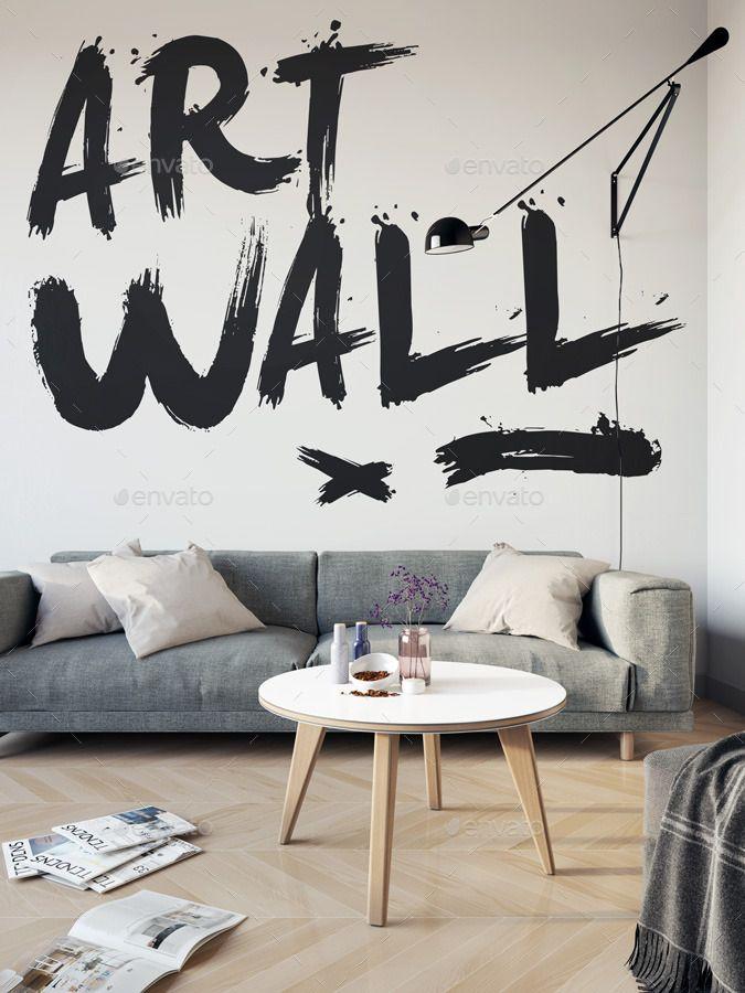 32 Best Wall Art Mockup Psd Designs For Artists And Designers Cool Walls Psd Designs Poster Mockup