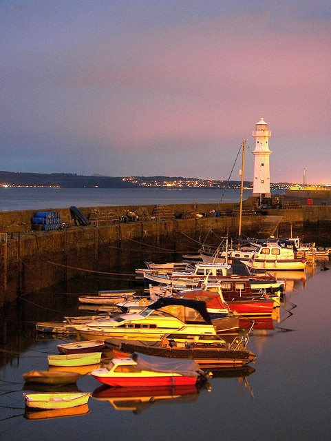 Harbour at Dusk   -     Newhaven harbour, Edinburgh