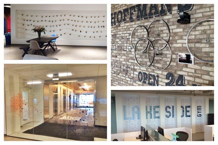 Clothesline Wall and Lakeside Gym Graphics.