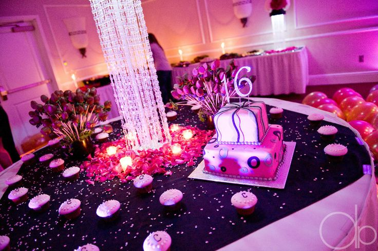 Sweet 16 Cake Table For A Glamour Or Red Carpet Theme