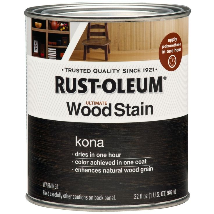 Shop Rust Oleum Ultimate 1 Quart Kona Oil Wood Stain At