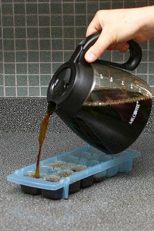Cubos de café para tu cafecito helado. | 16 Deliciosas maneras de tomar café que cambiarán tu vida