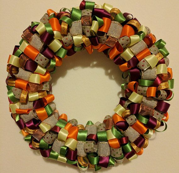 Check out this item in my Etsy shop https://www.etsy.com/listing/515829484/fall-ribbon-wreath