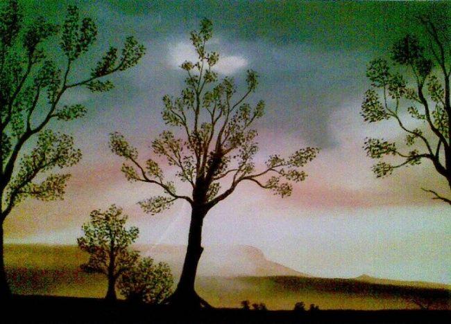 Westlandkunst.webklik (©2011 artmajeur.com/westlandkunst) pasteltekening pastel art american sunrise
