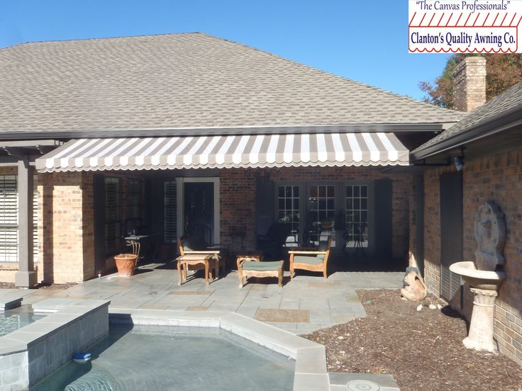 Residential Awning Over Back Patio