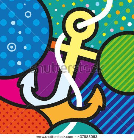 ART POP ART ANCHOR MODERN GRAPHICS for your design https://www.shutterstock.com/g/lilli_jemska?rid=158830&utm_medium=email&utm_source=ctrbreferral-link