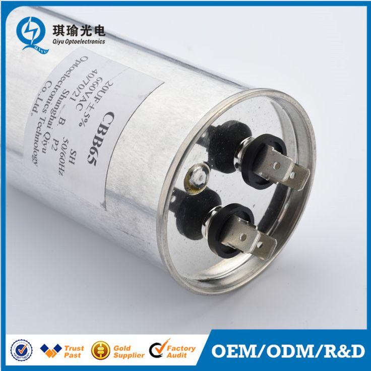 CBB65 metallized film ac capacitor air conditioner motor run capacitor 660v 20uf  Chris Wang  chris@qiyutech.com Shanghai Qiyu Optoelectronics Technology Co.,Ltd  www.qiyutech.com