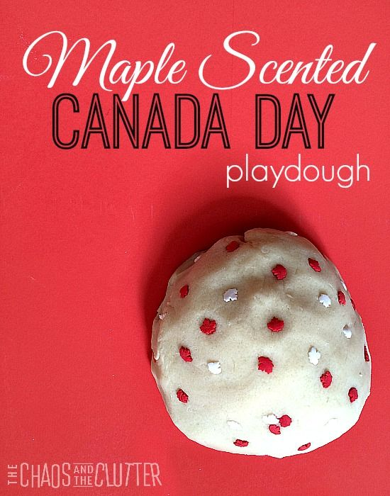 Maple Scented playdough perfect for Canada Day