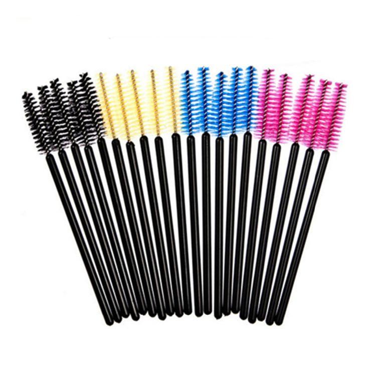 25 pz Makeup Gettare Mascara Multicolor Pennello Sferza Estensione Ciglia Bacchetta Brush Bastoni Applicatori Spoolers Pennello Make Up Strumento