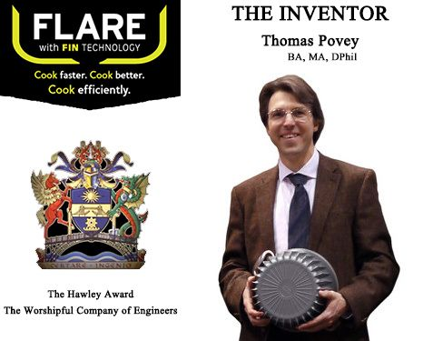 FLARE Cookware inventor Dr. Tom Povey is an expert in Thermodynamics, Heat Transfer and Fluid Dynamics, giving University lectures on these topics. His expertise extends to aerodynamics with particular application to rocket and jet engines. Through research he found that with advanced Fin technology it allows you to cook up to 40% quicker on gas when heating and cooking your food. ...by FLARE Cookware on LaPrima Royale #LaPrimaRoyale
