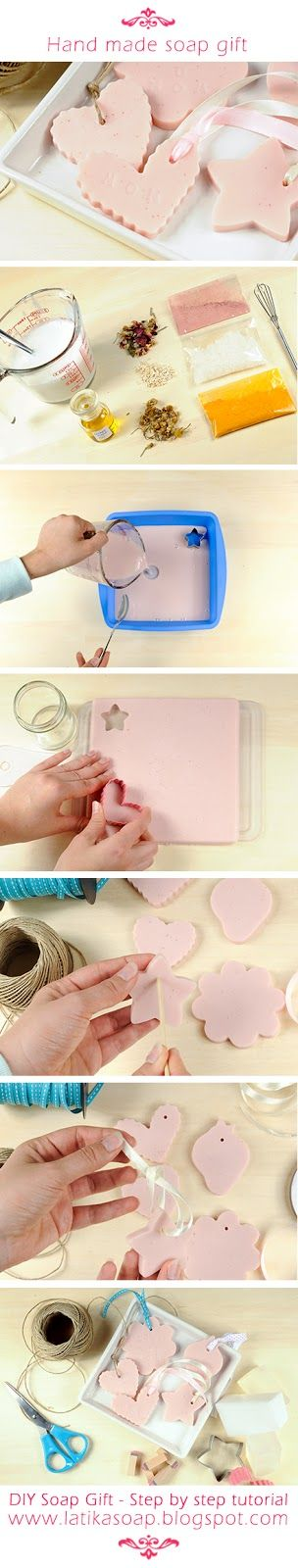 DIY Soap gift - Mothers day gift idea #diy #soap #mother #tutorial