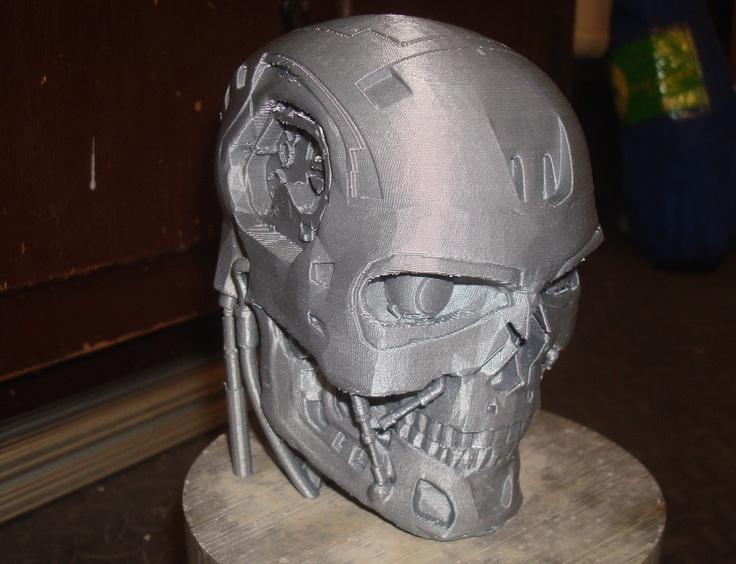 T800 Terminator Exoskull by Landru. Cool 3D Printing