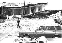 The 1983 Coalinga earthquake occurred on May 2 at exactly 23:42 UTC in Coalinga, California. The earthquake measured 6.2 on the moment magnitude scale and had a maximum perceived intensity of VIII (Destructive) on the Mercalli intensity scale. The earthquake was caused by an unknown fault buried under the surface.