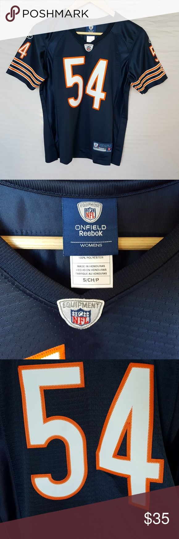 Women's NFL Jersey Chicago Bears Urlacher 54 Women's NFL Jersey Chicago Bears Urlacher 54, excellent condition. NFL Tops