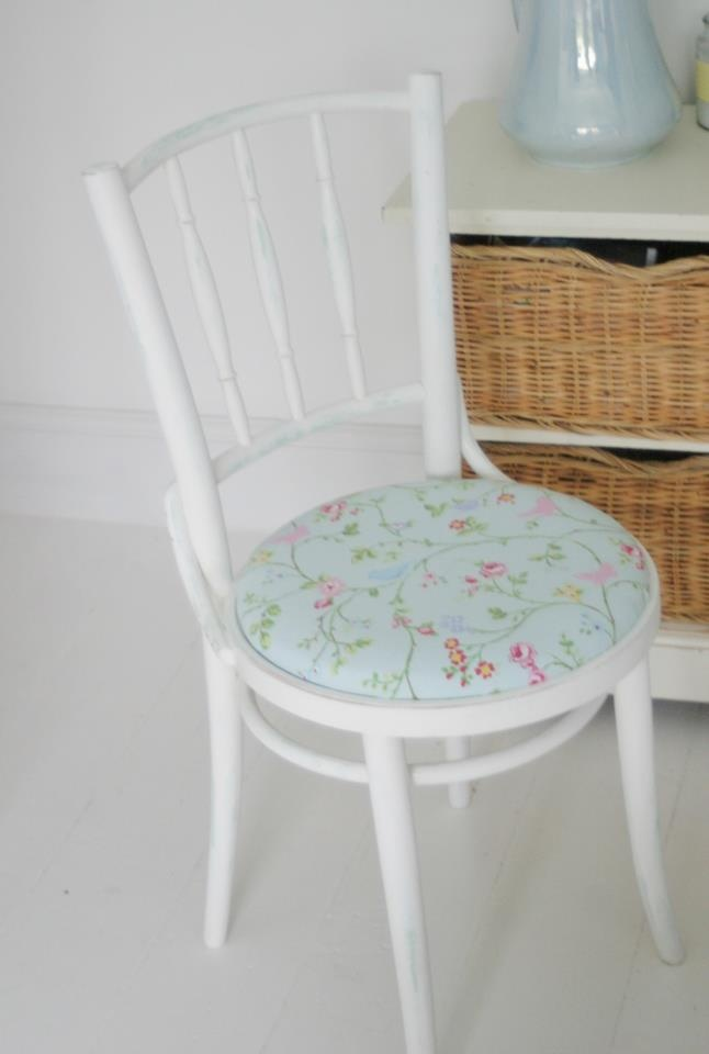 Reloved chair, hand painted and recovered - SOLD