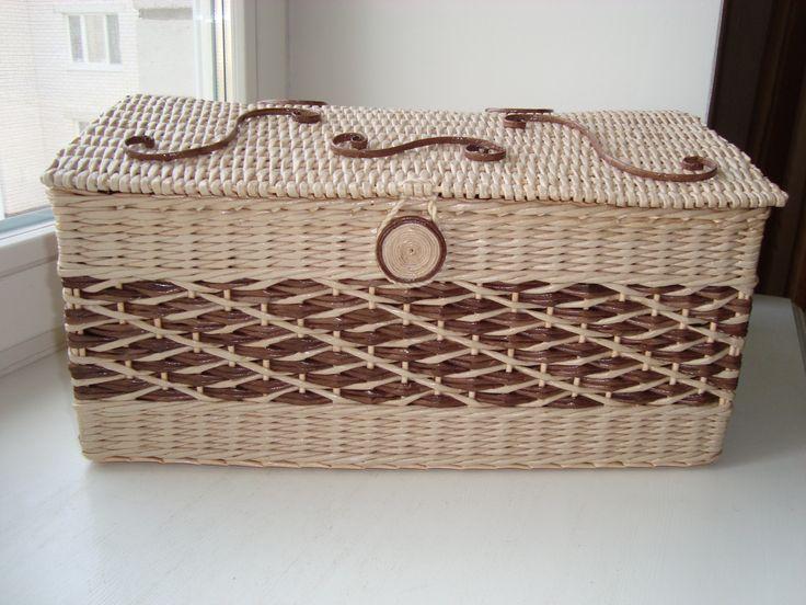 сундук для рукодельницы из бумажных трубочек
