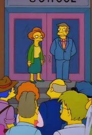 The Simpsons Grade School Confidential Watch Online. Martin's birthday party is predictably dull until nearly all the guests become ill with food poisoning. The only ones not to get sick are Bart (who didn't want to eat the spoiled oysters), and Principal Skinner and Mrs. Krabappel, who fall in love with each other. Bart catches his principal and teacher kissing passionately, but they immediately find out and want to swear him to secrecy. They make...