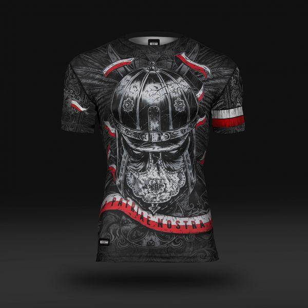 Koszulka sportowa Koszulka do biegania termoaktywna Husaria - Nieustraszeni Wojownicy -  - odzież sportowa Red is Bad