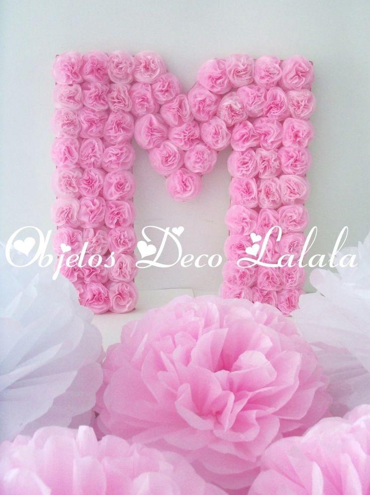 Letras Y Numeros Flores Cumple Bautismo 15 Años Casamientos - $ 250,00 en MercadoLibre