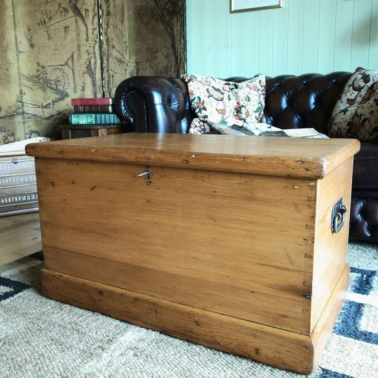 antique pine chest victorian blanket chest rustic box vintage coffee table trunk
